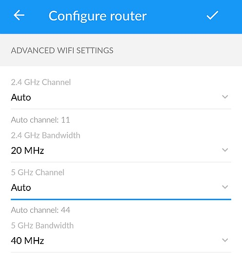 Configuring Wi-Fi channels with AmpliFi