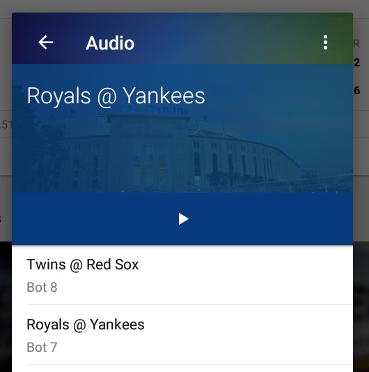 Audio problems with the MLB At Bat app