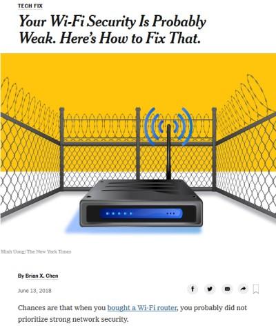 The New York Times on Router Security